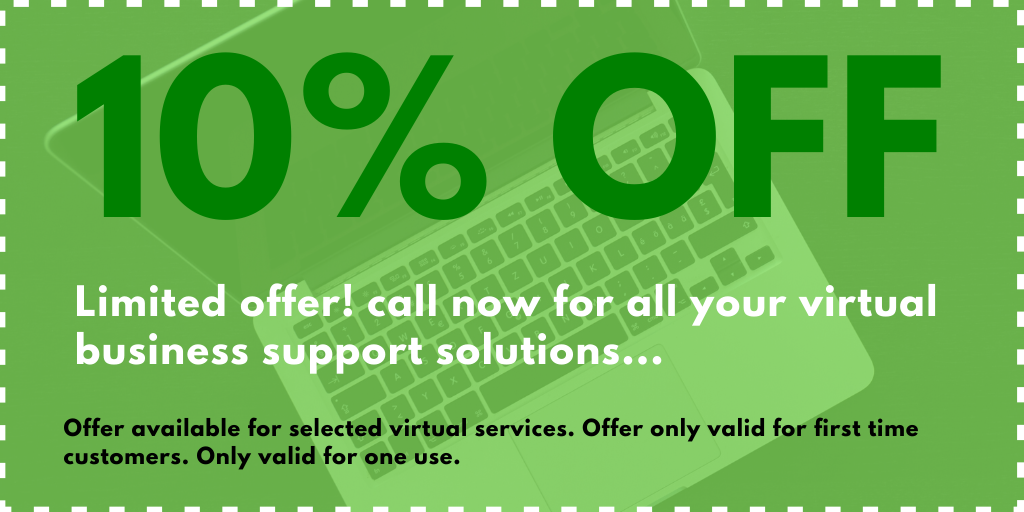 discount coupon for virtual business support